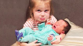 Funny Baby And Siblings  - WE LAUGH