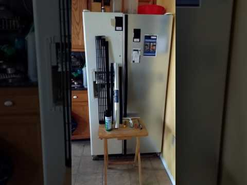 How to convert a white refrigerator into a stainless steel refrigerator