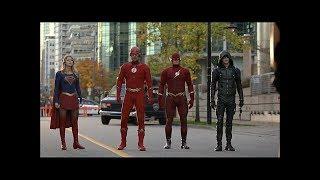 Green Arrow, Flash, Supergirl y Flash Tierra-90 enfrentan a El Monitor - ARROW 7X09 (Latino)
