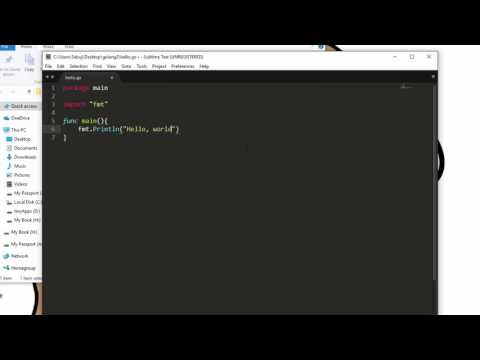 Introduction To Golang - Hello World in Go Programming Language
