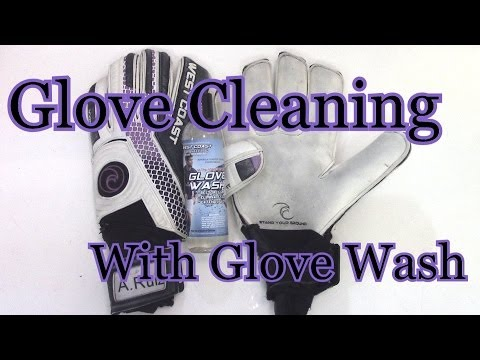 Goalkeeper Glove Cleaning with Glove Wash