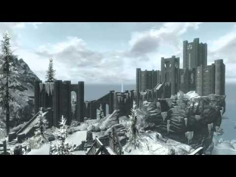 SKYRIM Ambience - College of Winterhold / Blizzard Effect