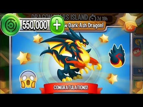 Dragon City - Dark Ash Dragon [Dragon Wars Island | Completed 2018]