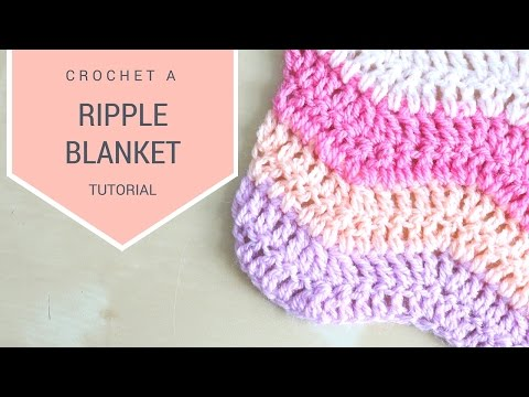 CROCHET: How to crochet the Ripple blanket | Bella Coco