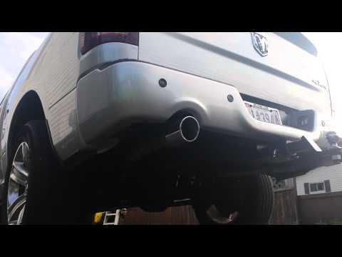 2013 dodge ram sport stock exhaust no resonators