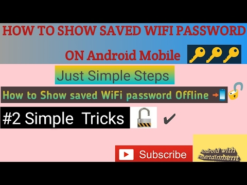 HOW TO Show Saved WiFi Password ON Android. IN (Urdu and Hindi )Tutorial 2017