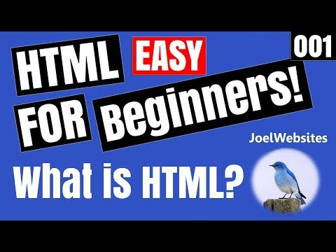 001 - HTML Tutorial for Beginners - What is HTML? With Simple Example!