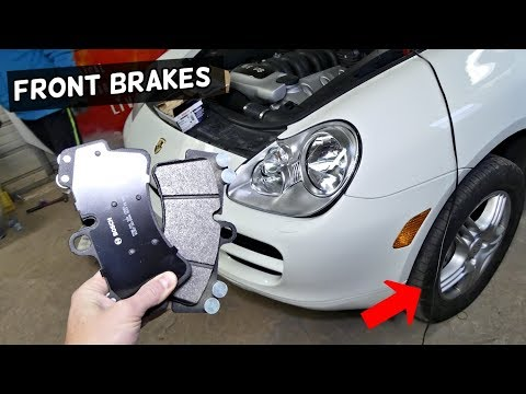 HOW TO REPLACE FRONT BRAKES BRAKE PADS ON PORSCHE CAYENNE