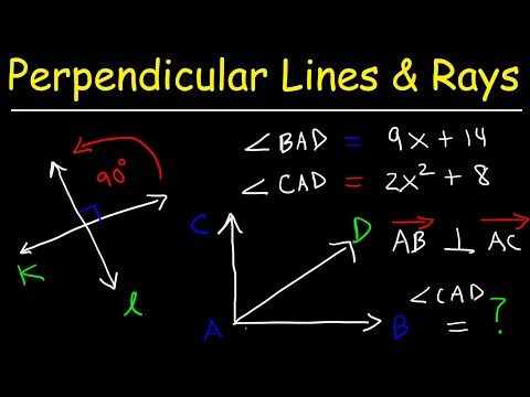 Perpendicular Lines, Slope, Rays, Segments & Right Angles - Geometry Practice Problems