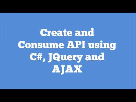 Creating And Consuming WebAPIs using C#, JQuery and AJAX