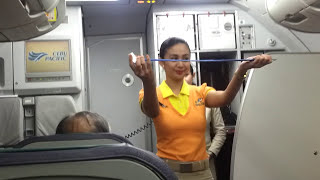 Flight Attendant Safety Demonstration | CEBU PACIFIC (Palawan, PHILIPPINES)