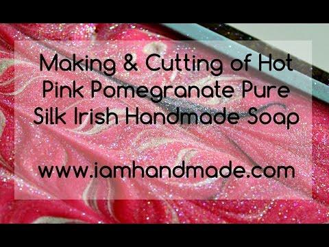 Making & Cutting Hot Pink Pomegranate www.iamhandmade.com