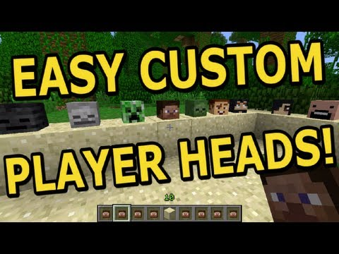 How to: Add Player Heads to Minecraft, Super Easy!