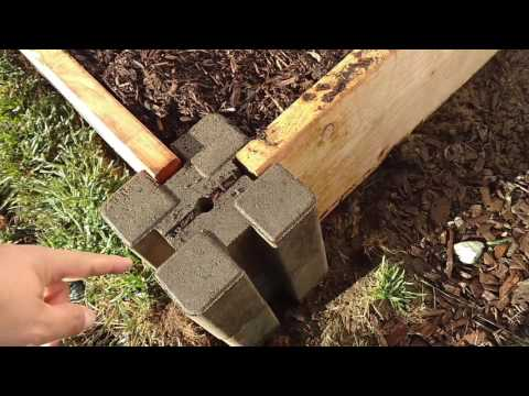 How To: Raised Bed Garden (Easy Way) Planter Wall Blocks!!