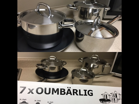 UNBOXING IKEA'S KITCHEN POTS AND PANS REVIEW