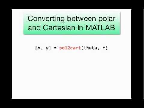 Polar coordinates and plotting in MATLAB