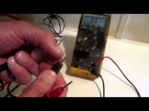 Using A Multimeter to Test A Small Battery type Charger/Adapter