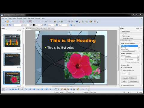 OpenOffice.org Impress Presentations: Part Two