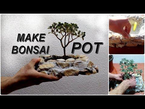 How to Make mini Bonsai Pot Very Easy