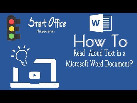 Read Aloud in Microsoft Word 365