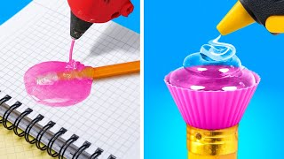 HOT GLUE GUN IDEAS || 20 Cool DIY Projects with 3D Pen, Epoxy Resin be 5-Minute Crafts