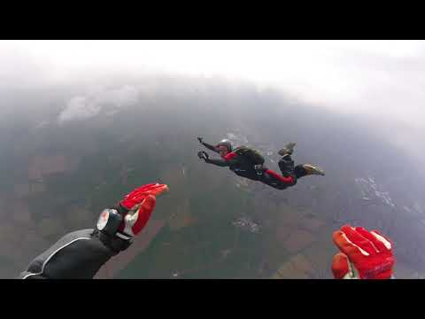 First skydive in 2years with only 28 jumps, all wibbly wobbly haha@redlands airfield...