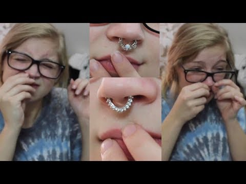 Trying on my ENTIRE SEPTUM RING Collection *DISASTER*