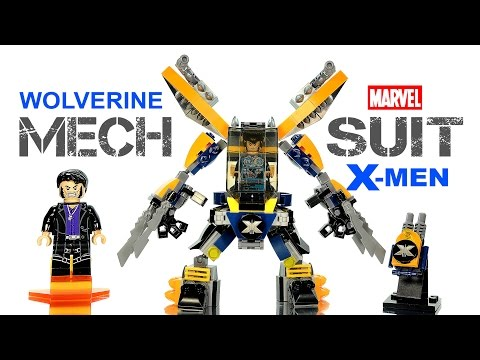 X-Men Wolverine Mech Suit vs Sabertooth LEGO KnockOff Building Set Speed Build