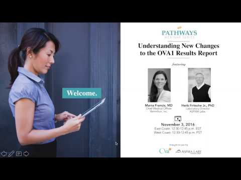 PATHWAYS Webinar: Understanding New Changes to the OVA1 Results Report