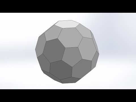 How to make Truncated Icosahedron by SolidWorks