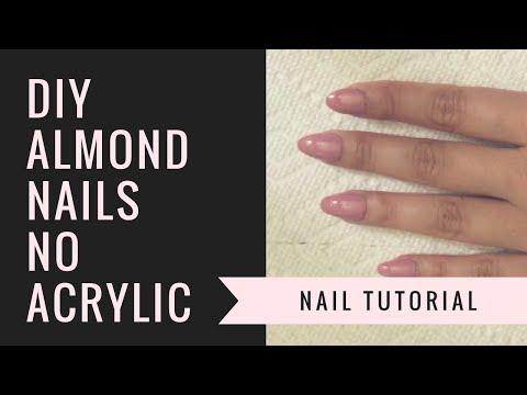 DIY Almond Nails | NO ACRYLIC | jiannajay