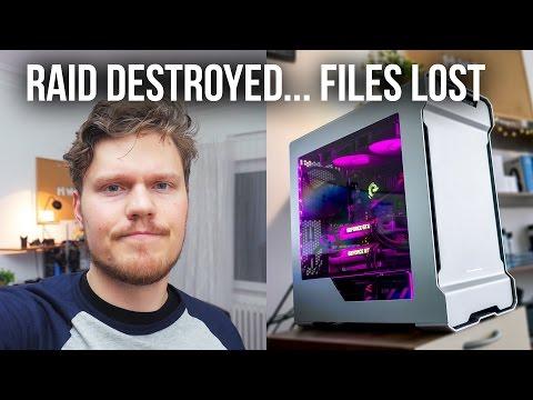 HOW I DESTROYED My SSD RAID 0 Array :(
