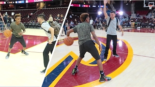 1v1 vs LEBRON JAMES JR! (AT NBA FINALS)