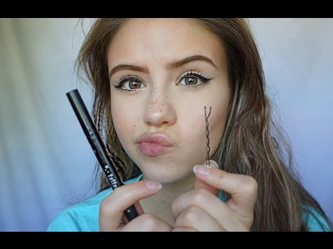 Using A Bobby Pin To Do My Eyeliner!? | Marki Rochelle