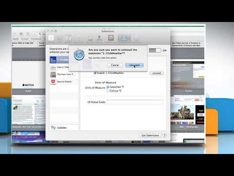 How to remove or uninstall extensions from Apple® Safari 7 on a Mac® OS X™