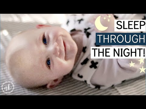 HOW I GOT MY BABY TO SLEEP THROUGH THE NIGHT! | top 5 tips | Natalie Bennett