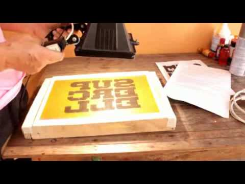 T-shirt printing using photo emulsion
