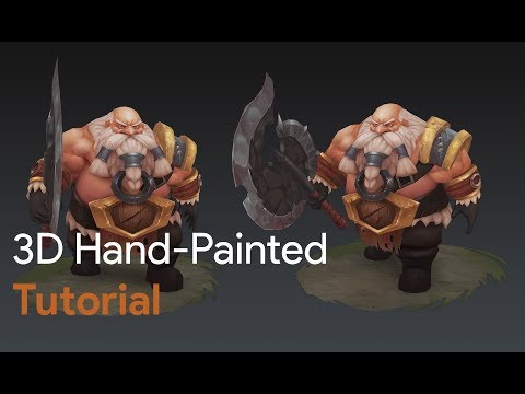   Game Art   3D Hand-Painted character dwarf for games tutorial