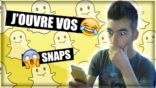 Replay J Ouvre Vos Snaps En Live