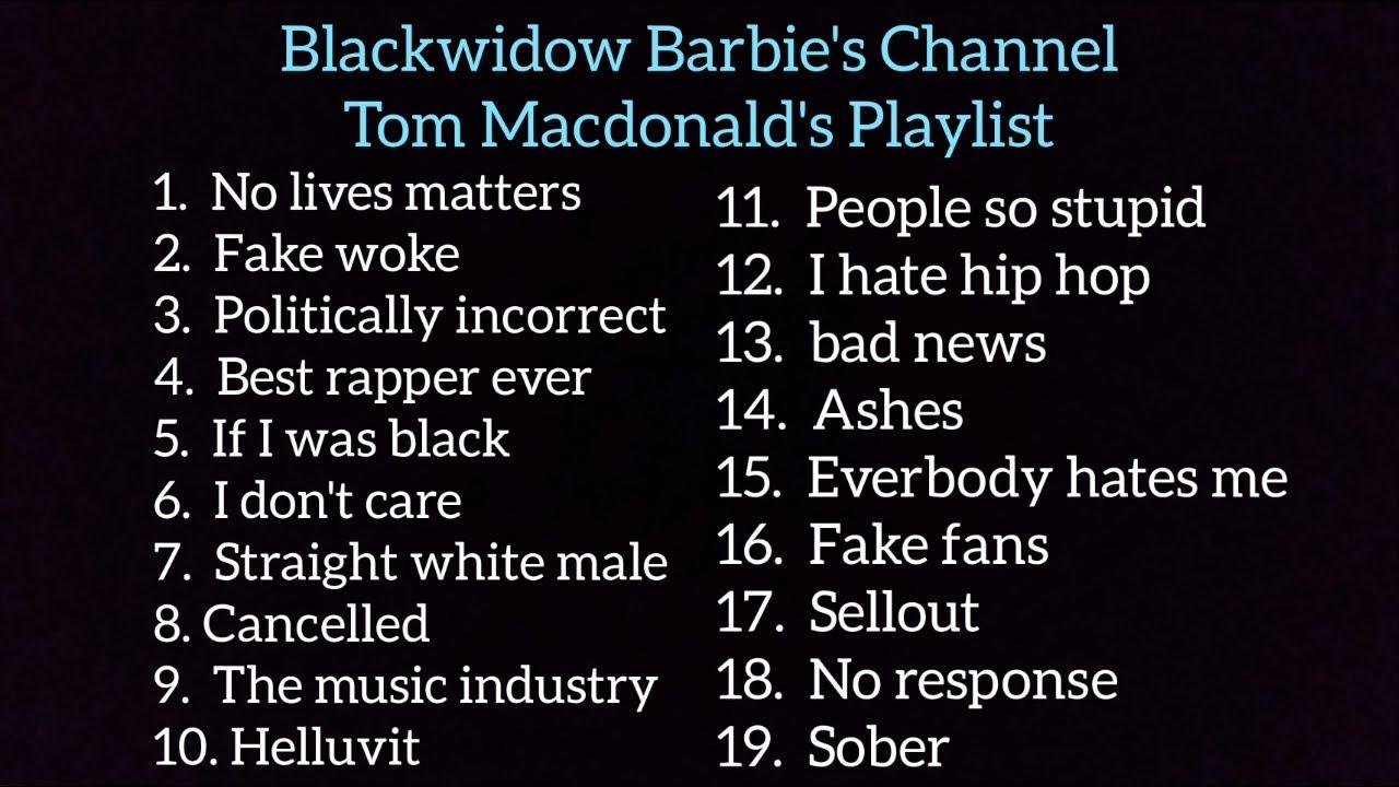 Tom Macdonald PlayList 19 songs