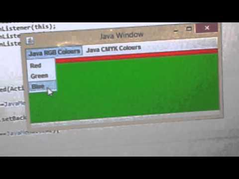 Java RGB-CMYK Colours GUI