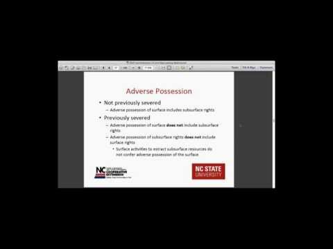 Recording of 'Oil and Gas Leases in North Carolina Webinar' (August 2015)