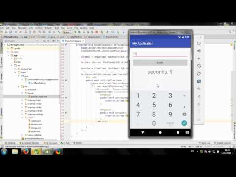 Develop simple Coundown Timer app in Android Studio