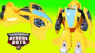 Transformers Rescue Bots Bumblebee Jet Plane Mode Awesome Adventure
