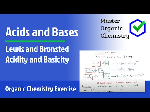 Lewis and Bronsted Acidity and Basicity