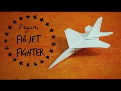 How to make an F16 Jet Fighter Paper Plane (Tadashi Mori)