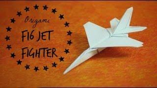 How to make an F16 Jet Fighter Paper Plane (Tadashi Mori)
