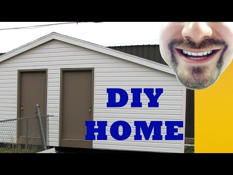 How to Build a Storage Shed in 4 Minutes 10' x 24' | BUILD IT
