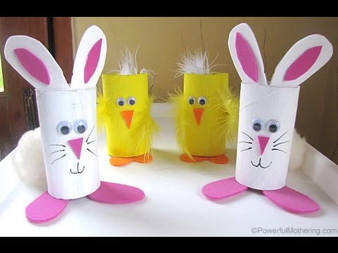 3 Super Easy Easter Bunny DIY | Recycled Toilet Paper Roll Craft | FRISHTA DIY CRAFT