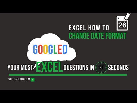 Excel How To: How to Change the Date Format in Excel